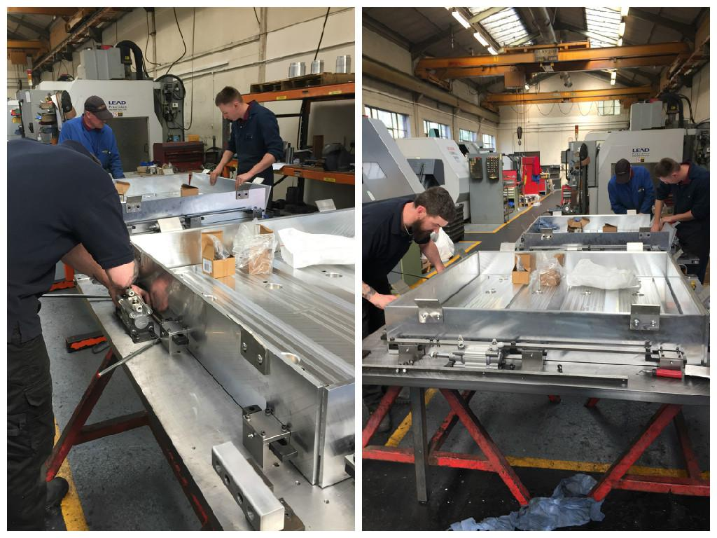 CES has designed, manufactured and built 6 new large press beds in their workshop in Worcester. The new press beds will be exported next month and will be used for compressing a new type of installation material used in the food industry. For more information call CES on 01905 420529 or email:sales@cehsltd.co.uk