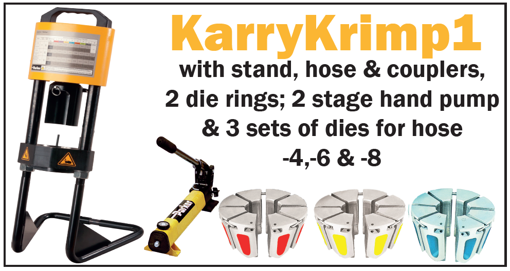 Last year, we brought you the option to hire, loan, buy or get a KarryKrimp1 for free! To celebrate the new year, we have revamped the KarryKrimp1 offer thanks to your feedback last year. Our new KarryKrimp1 offer gives you the opportunity to purchase a stand, hose & couplers, 2 die rings; 2 stage hand … Continue reading