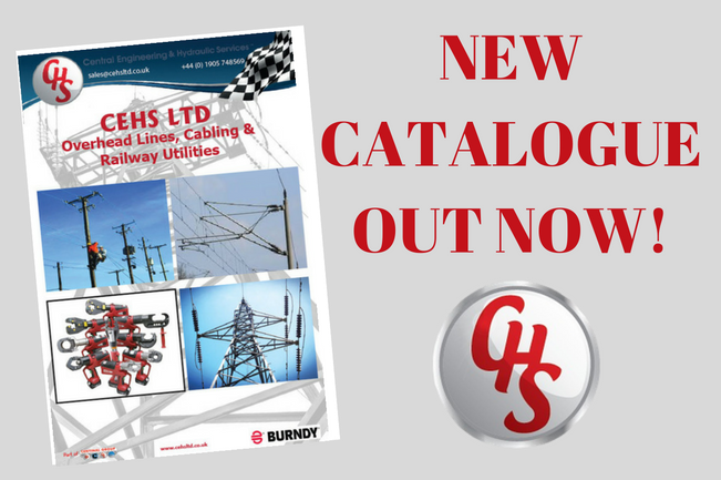 CEHS has launched their new 'Overhead lines, cabling and railway utilities' catalogue. The catalogue has a range of products including Burndy tooling, hydraulic power packs, OHL accessories and much more. The catalogue is available in digital form or a physical catalogue. To get yours please call 01905 748569 or email sales@cehsltd.co.uk
