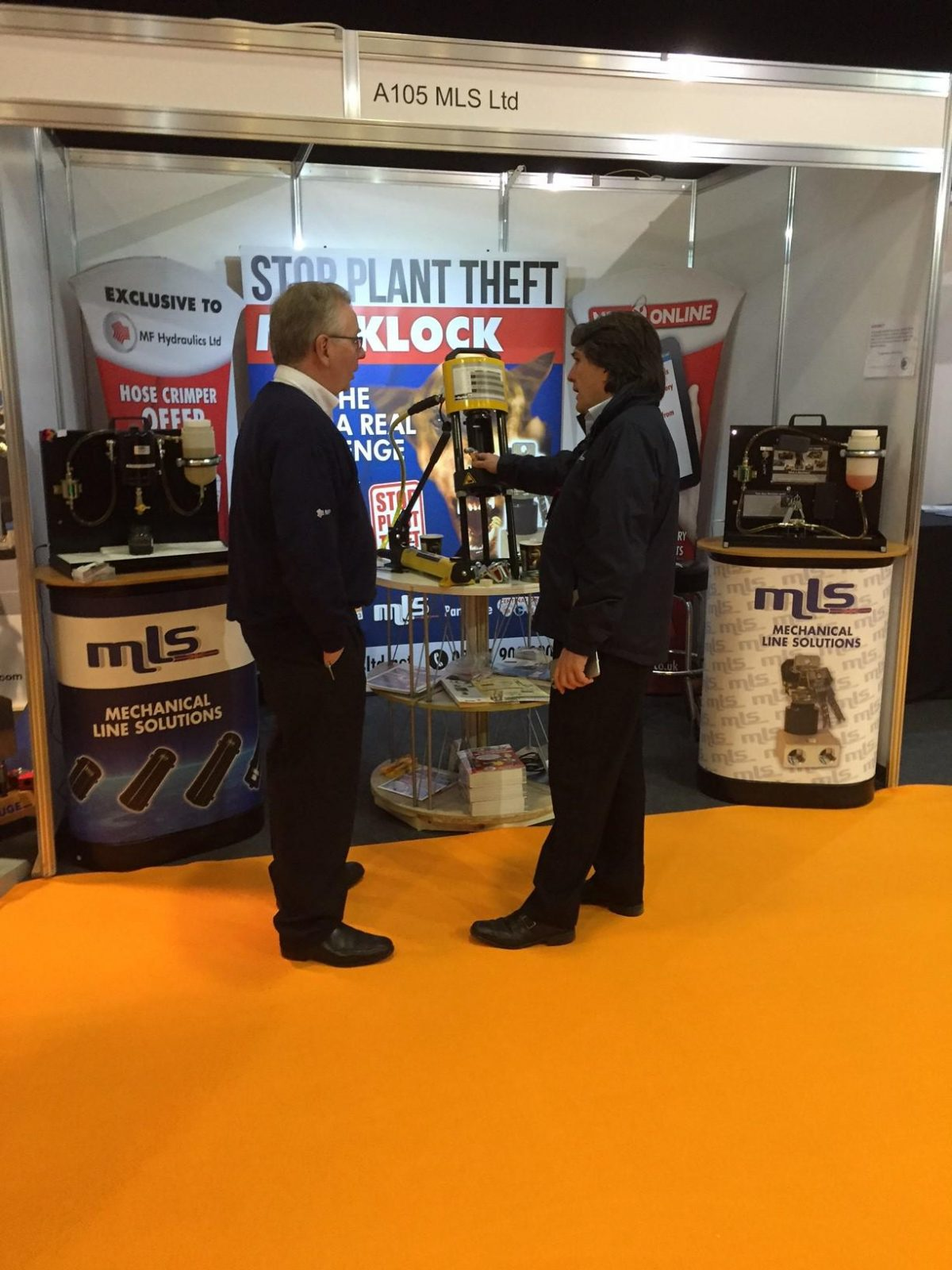 MLS are live at the Executive Hire Show in Coventry. The Parker KarryKrimp has been taken to the Coventry exhibition for the first time. Our Mecklock and Fuel Purifiner have been taken once again, stopping plant theft and saving your engines from Diesel Bug. We're in the same place as last year, come and visit … Continue reading