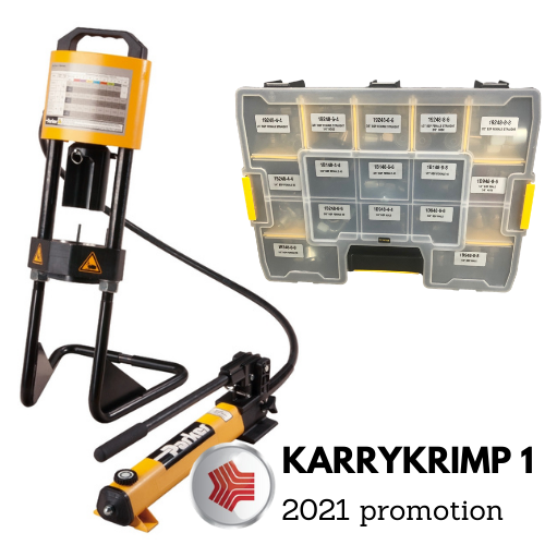 Normally, MF Hydraulics would have launched the new KarryKrimp1 deal at Lamma show at the beginning of the year. As this year has been a bit different we are launching this deal right here, right now! Parker KarryKrimp1 allows you to crimp hose on the go. Crimping 1&2 wire hose up to 1.1/4″ bore … Continue reading